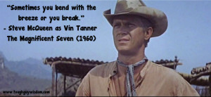 Steve McQueen with Magnificent Seven quote